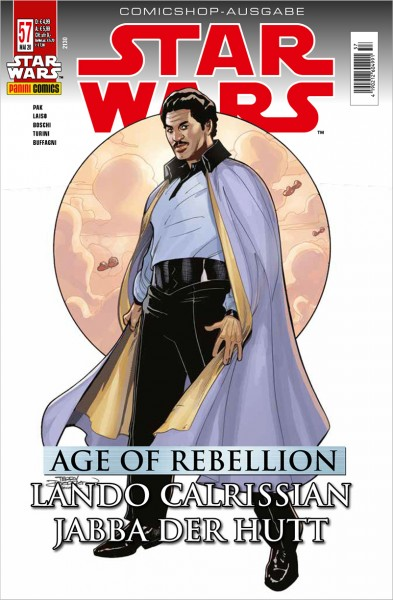 Star Wars 57: Age of Rebellion - Jabba der Hutt & Lando Calrissian  - Comicshop Ausgabe
