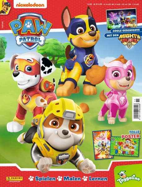 Paw Patrol Magazin 11/20 Cover