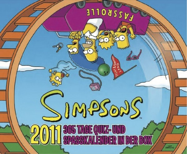 Simpsons - Quiz-Kalender (2011): 365-Tage-kalender in der Box