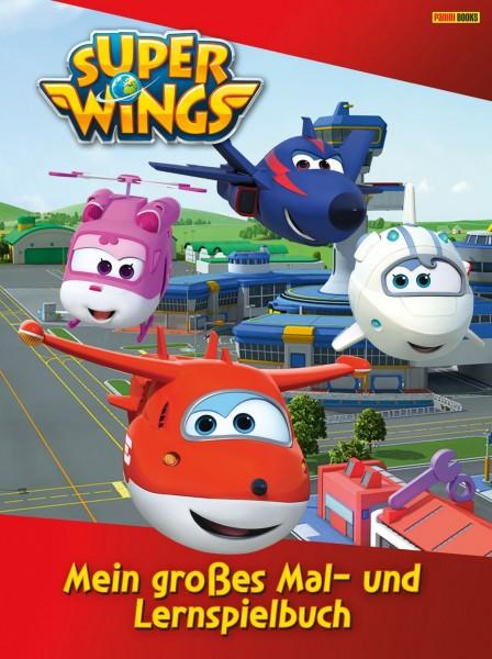 Super Wings - Mein großes Mal- und Lernspielbuch