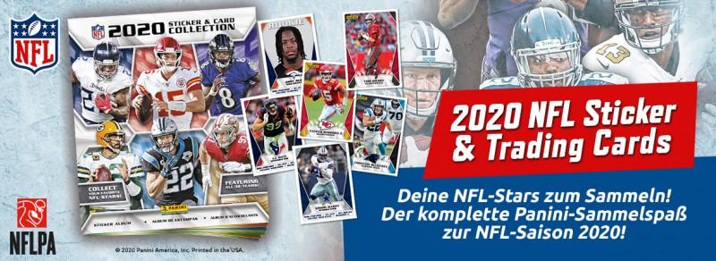 NFL - Sticker & Trading Cards Kollektion 2020 - Banner