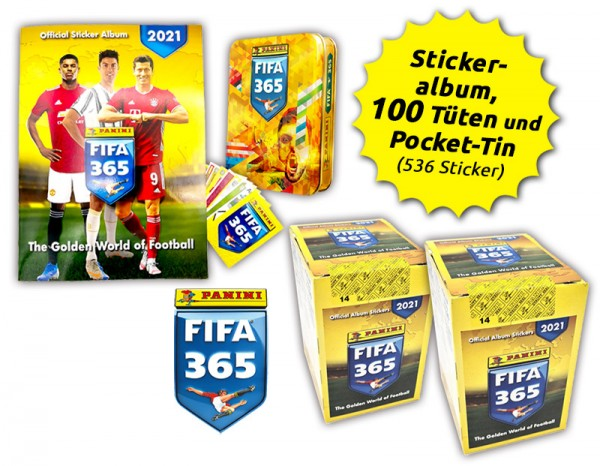 Panini FIFA 365 Stickerkollektion 2021 - Mega-Bundle