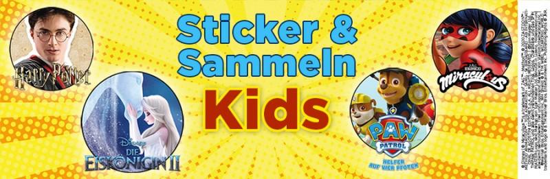 Panini Kids Sticker und Sammeln Übersicht Banner