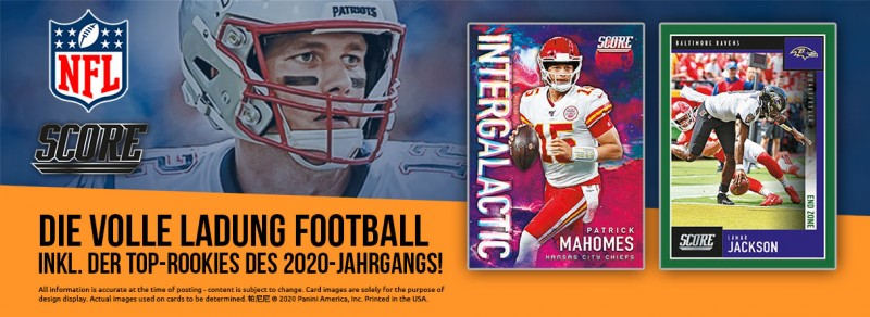 NFL Score 2020 Trading Cards - Banner