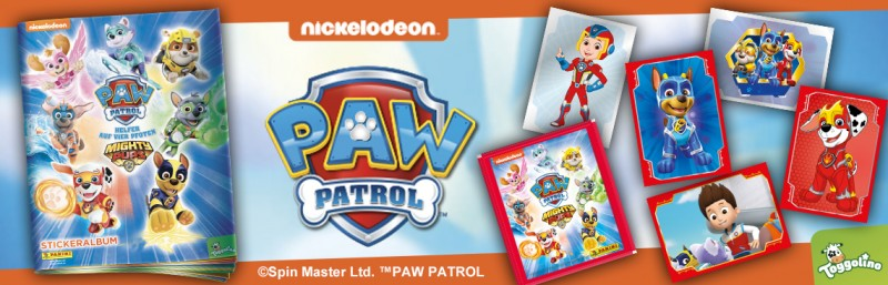 Paw Patrol Mighty Pups Stickerkollektion
