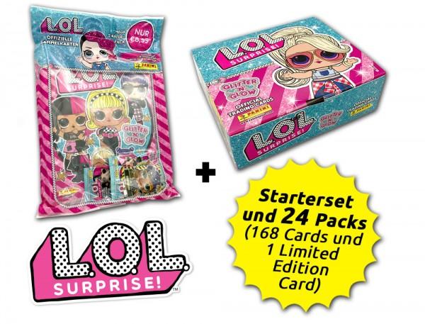 L.O.L. Surprise! Glitter 'n' Glow Trading Cards Kollektion - Box-Bundle