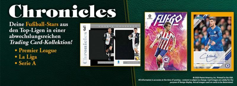 Chronicles Soccer 2019-20 - Deine Fußball-Stars aus den Top-Ligen in einer abwechslungsreichen Trading Card-Kollektion!