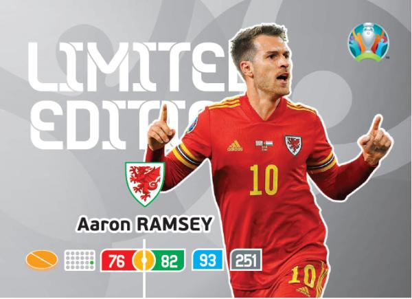 UEFA Euro 2020 Adrenalyn XL Limited Edition Card Aaron Ramsey