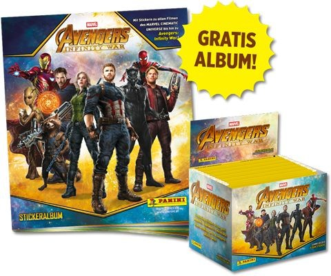 Avengers Infinity War Sticker und Trading Cards Kollektion - Starter-Bundle 1