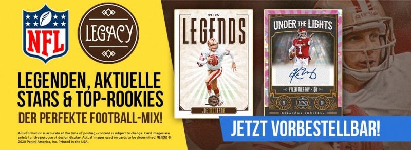NFL Legacy 2020 - Legenden, aktuelle Stars & Top-Rookies - der perfekte Football-Mix!