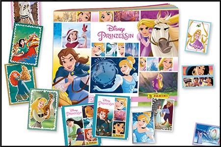 Disney Prinzessin Sticker und Trading Cards