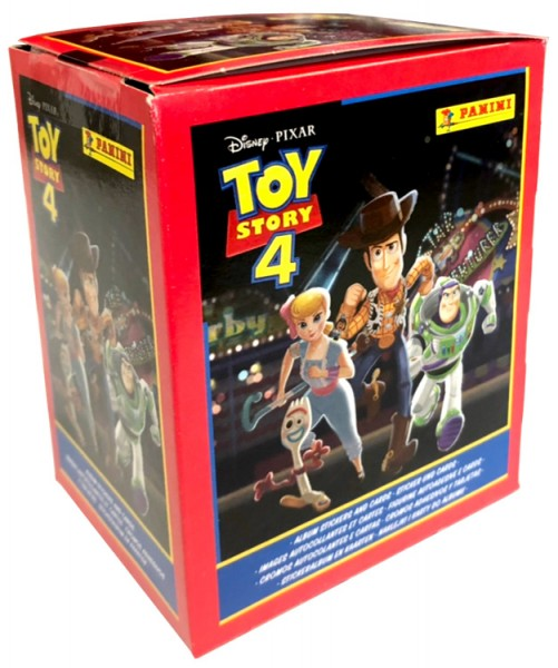 Disney Toy Story 4 – Sticker und Sammelkarten - Box