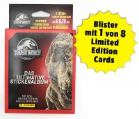 Jurassic World Anthology - Sticker und Cards - Blister