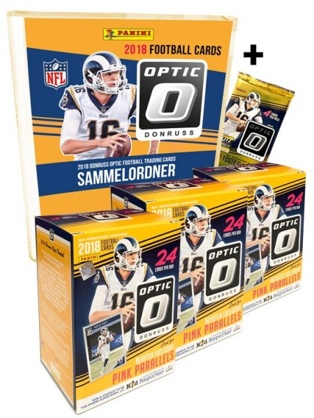 NFL 2018 DONRUSS Optic Football Trading Cards - Triple Pack