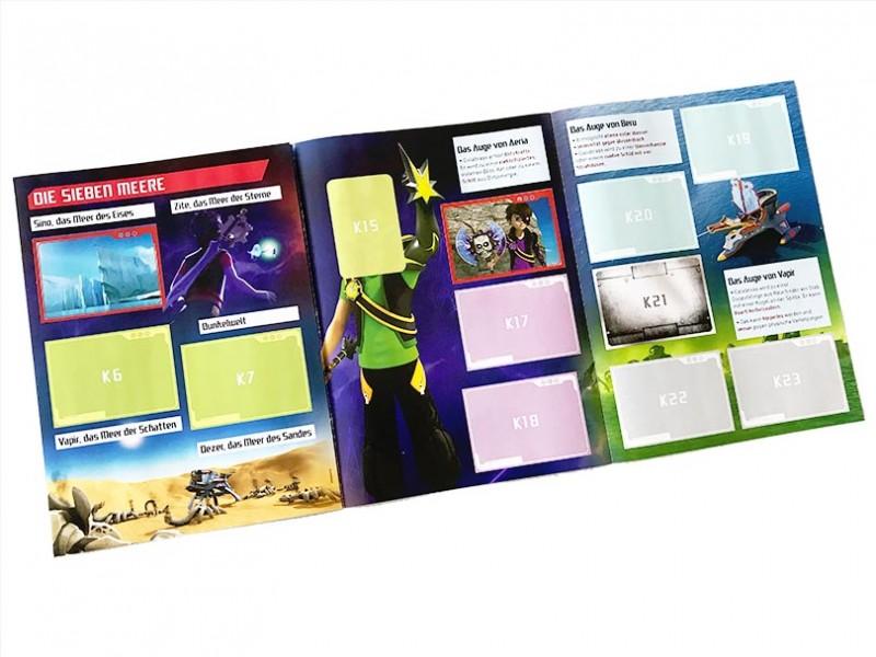 Zak Storm Stickerkollektion Folder Innenansicht