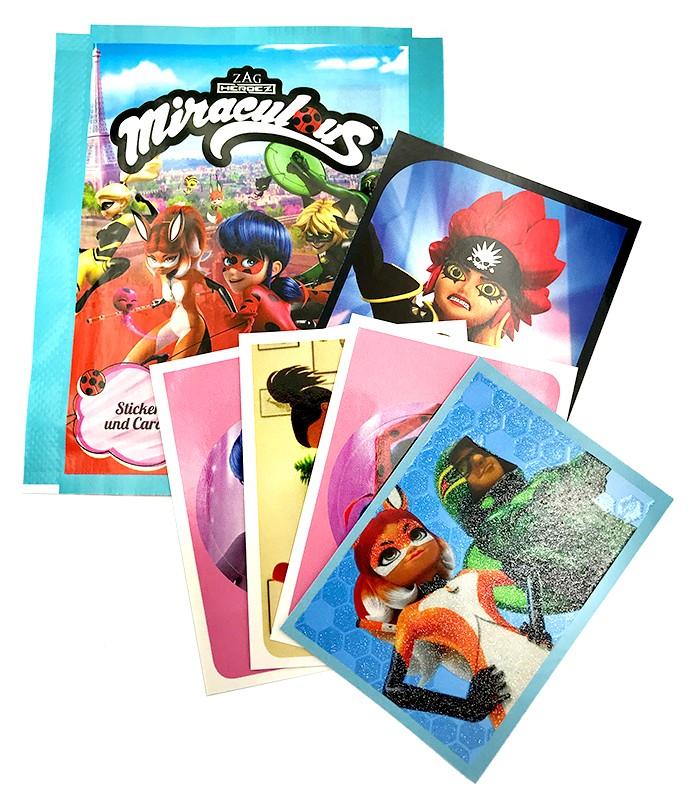 Miraculous Sticker und Trading Cards Stickertüte mit Inhalt