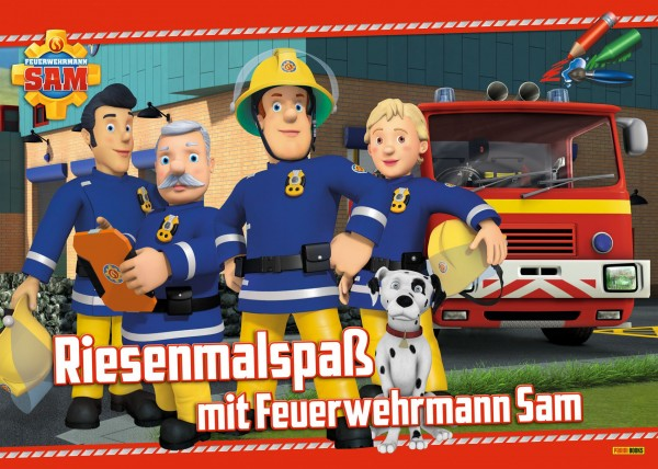Feuerwehrmann Sam - Riesenmalspaß mit Feuerwehrmann Sam