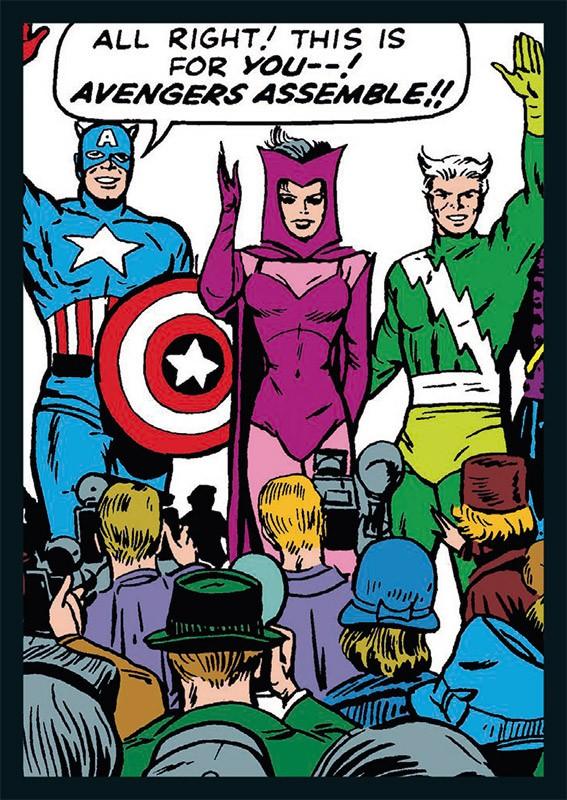 80 Jahre Marvel Sticker und Cards Jubiläumskollektion Beispiel Sticker Avengers