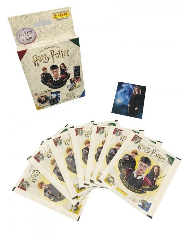 Harry Potter Blister mit 7 Tüten und 1 von 8 Limited Edition Cards