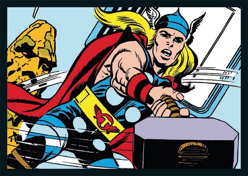 80 Jahre Marvel Sticker und Cards Beispiel Sticker Thor