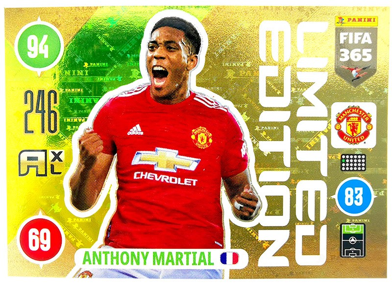 Panini FIFA 365 Adrenalyn XL 2021 - Limited Edition Card Anthony Martial