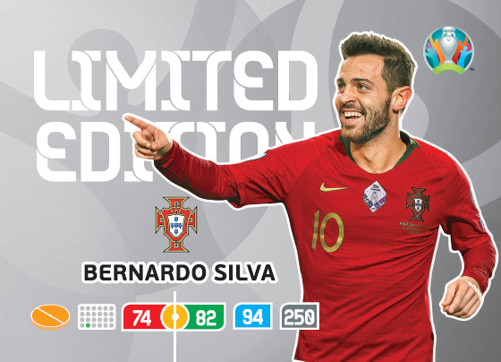 UEFA Euro 2020 Adrenalyn XL Limited Edition Card Bernardo Silva