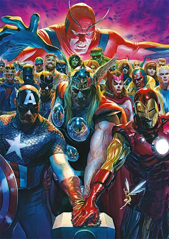 80 Jahre Marvel Sticker und Cards - Beispiel Avengers