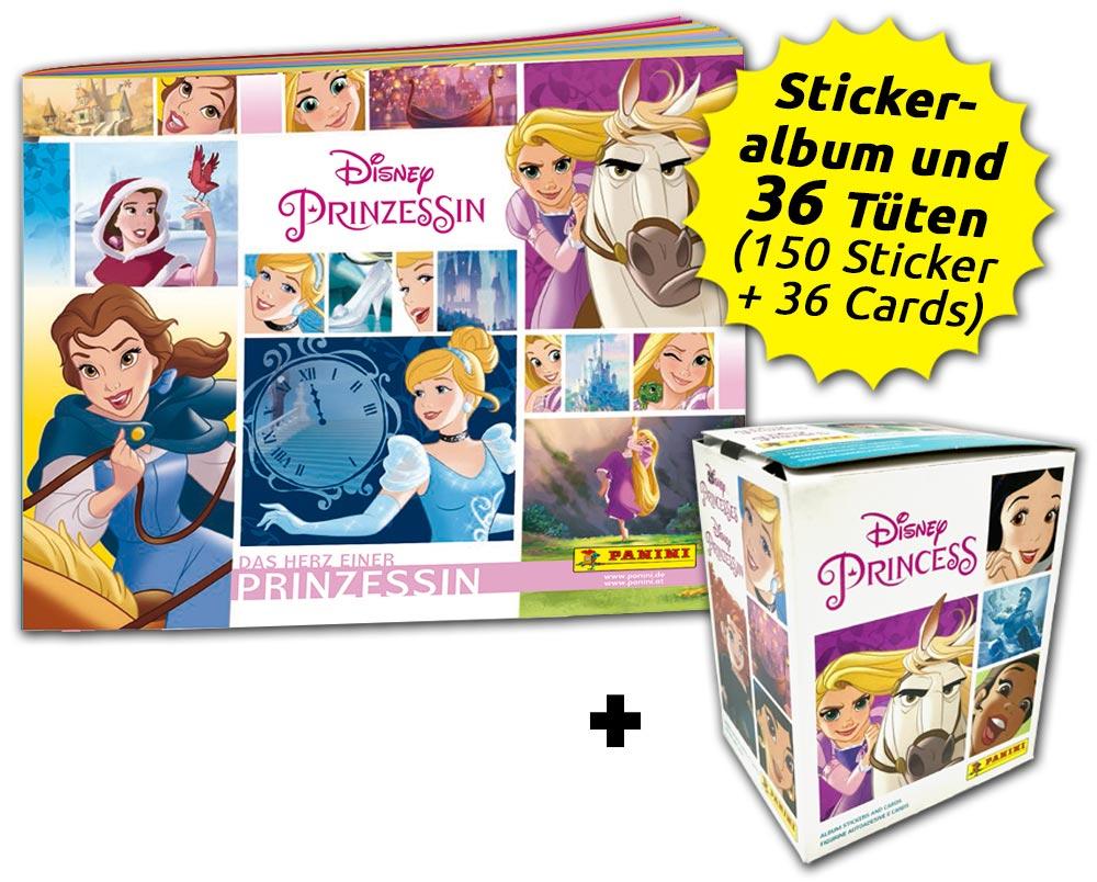 Disney Prinzessin  - Das Herz einer Prinzessin - Sticker- und Trading Cards - Box-Bundle