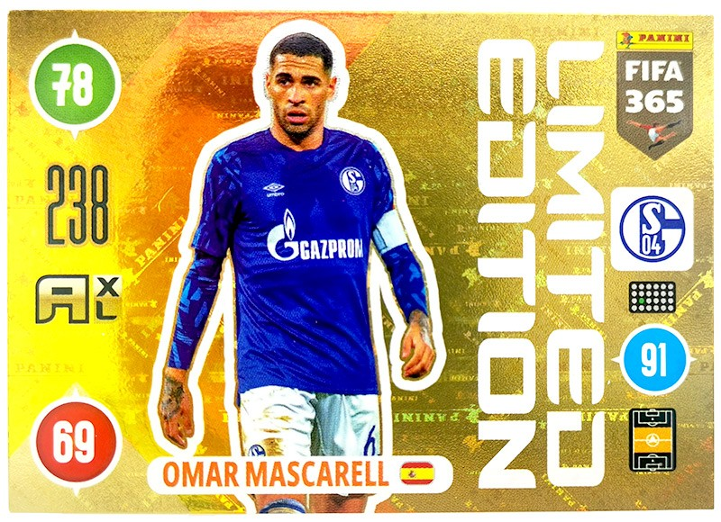 Panini FIFA 365 Adrenalyn XL - Limited Edition Card Omar Mascarell