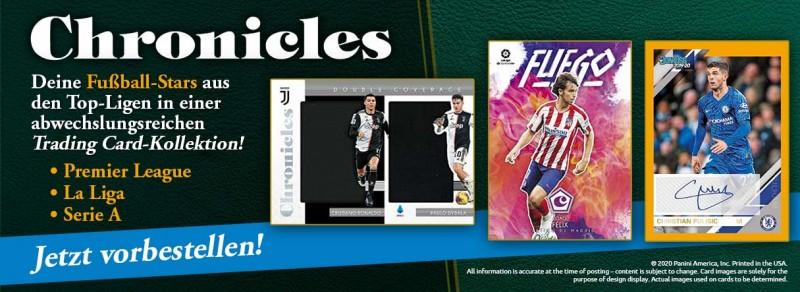 Chronicles Soccer 2019/20 - Deine Fußball-Stars aus den Top-Ligen in einer abwechslungsreichen Trading Cards Kollektion
