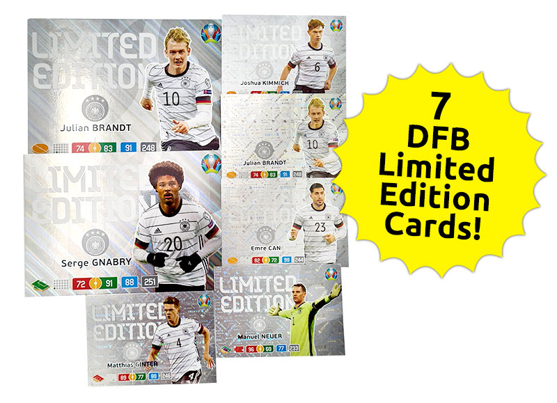 EURO 2020 Adrenalyn XL Preview 7 DFB Limited Edition Cards