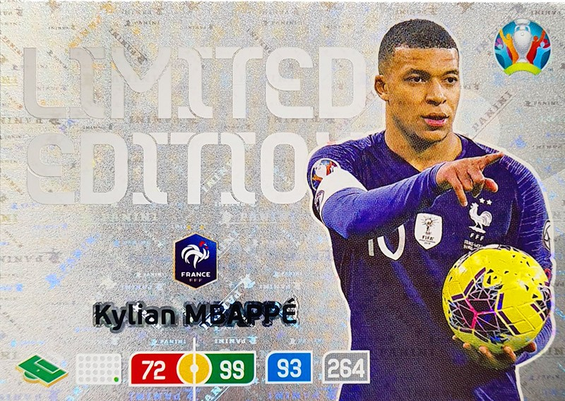 UEFA EURO 2020 Adrenalyn XL - Official Preview Collection - Limited Edition Card Kylian Mbappe