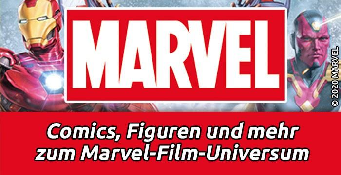Comics, Figuren und mehr zum Marvel-Universum