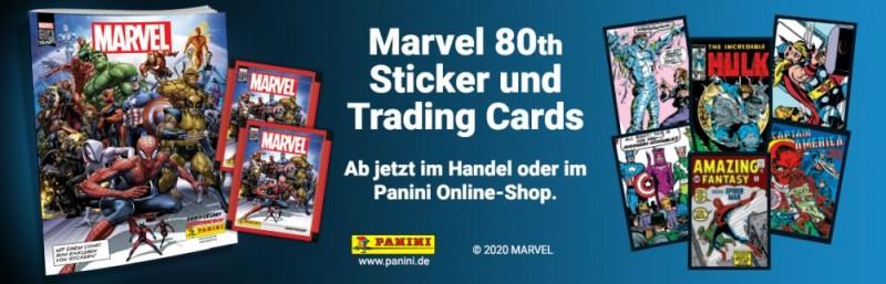 80 Jahre Marvel Sticker und Trading Cards