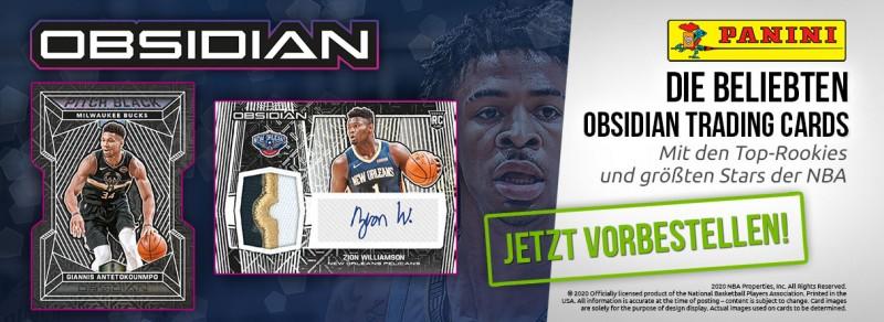 NBA Obsidian 2019/20 Trading Cards - die beliebten Obsidian Trading Cards - mit den Top-Rookies und größten Stars der NBA