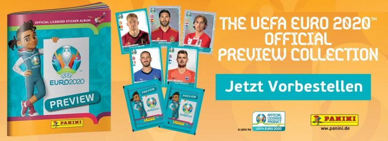 UEFA EURO 2020 - Stickerkollektion - Official Preview Collection - Jetzt vorbestellen