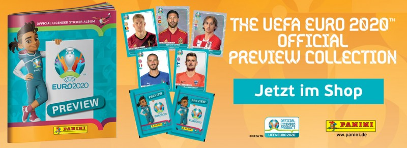 UEFA EURO 2020 - Stickerkollektion - Official Preview Collection - Jetzt im Shop