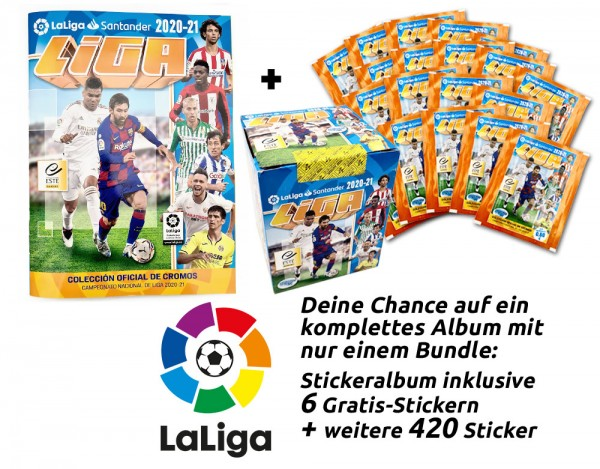 Panini La Liga 2020/2021 Stickerkollektion - Mega-Bundle
