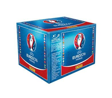 UEFA Euro 2016 Sticker Kollektion - Box mit 100 Tüten