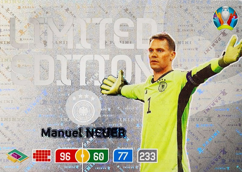 UEFA EURO 2020 Adrenalyn XL - Official Preview Collection - Limited Edition Card Manuel Neuer