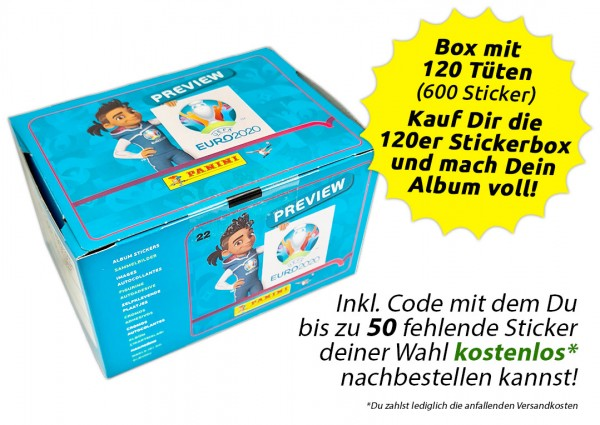 UEFA EURO 2020™ The Official Preview Collection - Sticker - Box mit 120 Tüten