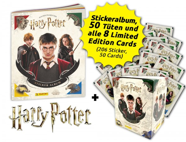 Harry Potter- Sticker und Cards - Hogwarts-Bundle Inhalt