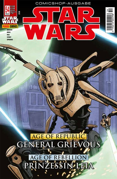 Star Wars 54: Age of Republic - General Grievous & Age of Rebellion- Leia - Comicshop Ausgabe