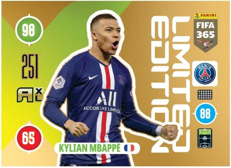 Panini FIFA 365 Adrenalyn XL 2021 - Limited Edition Card Kylian Mbappe