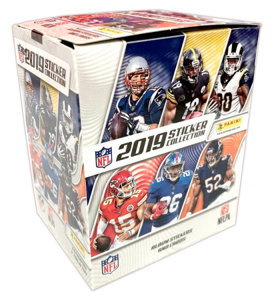 NFL 2019 Sticker & Trading Cards - Box