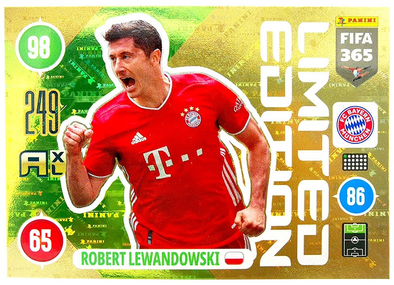 Panini FIFA 365 Adrenalyn XL - Limited Edition Card Robert Lewandowski