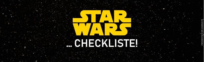 Checkliste Star Wars Banner