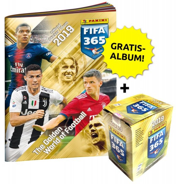 Panini FIFA 365 2019 Stickerkollektion – Sticker-Starter-Bundle