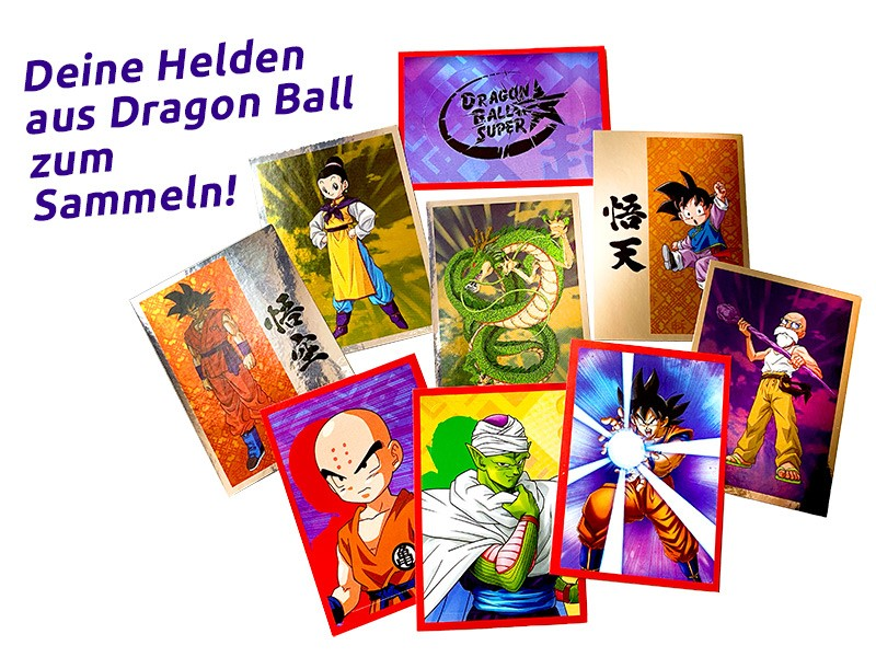 Dragon Ball Super Stickerkollektion Beispiel Sticker