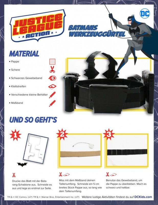 Bastelvorlage DC Batmans Werkzeuggürtel